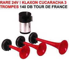 24V! Tour de France ! Klaxon Italien 3 trompes 140db RAID 4X4 HDJ KDJ PATROL KDJ