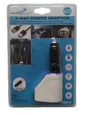 Roadtek 3 Way Power Adaptor - 2 x 5v USB Ports & 1 x 12-24v Output - TA-YKB15
