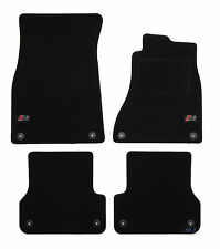 LUKAU014 TAILORED Black floor Car Mats with logo Audi A6 C72011-2018 4pcs fix