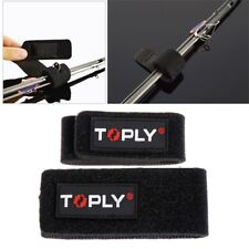 2x Fishing Rod Pole Tie Tackle Fastening Strap Belt Wrap Band Holder