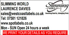 500 Personalised Slimming World Consultants Labels - 70mm x 36mm