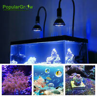 12W E27 Led Aquarium Light Spot Lamp White Blue Spectrum for Coral Fish Reef