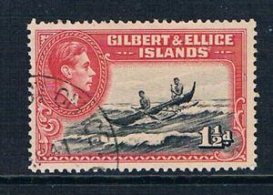 Gilbert & Ellice Islands 1939 KGVI 1½d Canoe o/FU SG 45