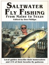PHILLIPS DON FISHING BOOK SALTWATER FLY FISHING FROM MAINE TO TEXAS pbk BARGAIN