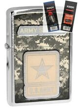 Zippo 28754 united states army Lighter with *FLINT & WICK GIFT SET*
