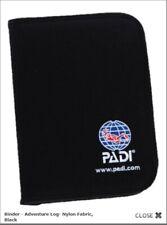 PADI 79136 Binder - Adventure Log- Nylon Fabric, Black