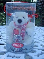 COCA-COLA PLUSH POLAR BEAR AND SANTA CHRISTMAS WATCH 2001