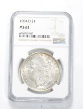 Choice Unc 1904-O Morgan Silver Dollar - Graded NGC MS63 MS-63 *987