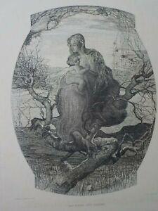 GIOVANNI SEGANTINI - Der Engel des Lebens. Radierung von WILHELM WOERNLE. 1899