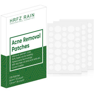 108 pieces Acne removal Patch Tag Hydrocolloid Pimple Spot Acne Patch Plaster UK