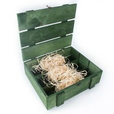 GREEN Wine 3 Bottle Presentation Box Case / Bottlebox / Gift Box / Storage Crate
