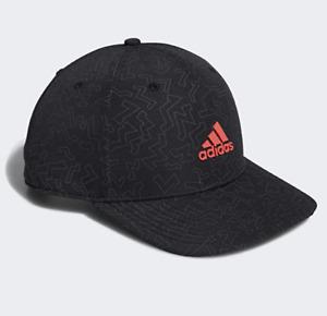 NEW! adidas Men's Color Pop Snapback Hat/Cap-Black/Red