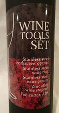New listing Wine Bottle Tool Set, Corkscrew Opener, Drip Ring Pourer Stopper Gift Box 5 Pcs