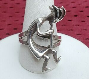 KOKOPELLI RING SIZE 8 NEW (925 STERLING SILVER)