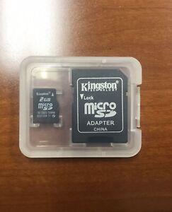 Used Kingston 2GB microSD Memory Card for Smartphone Cellphone Camera