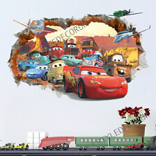 Disney Cars Planes Smashed Wall Stickers Home Decor Boys Girls Children Bedroom