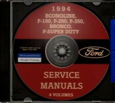 FORD 1994 Bronco, Econoline, F150-F350 & Super Duty Pick Up Truck Shop Manual CD