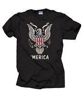 USA Freedom 'Merica Eagle Cool Patriotic T-shirt Tee Shirt 4th of July T-shirt