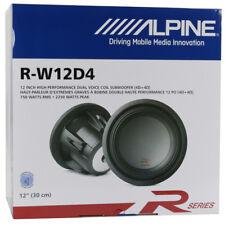 "ALPINE R-W12D4 TYPE R-SERIES 12"" 2250W 4-OHM DVC CAR AUDIO SUBWOOFER SUB WOOFER"