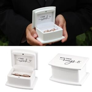 Wedding Ring Box Wooden Bearer Pillow Alternatives Ceremony Supplies Decorations