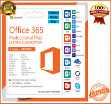 ✅MS Office 365 pro ✅ lifetime accounts ✅ 5 Devices ✅ 1TB storage✅