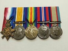1914-15 Star, British War Medal, Victory Medal, Replica Full Size WWI & WW11Set.