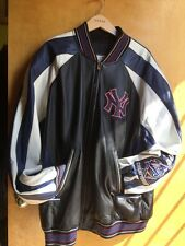 NY NEW YORK YANKEES LEATHER JACKET Size XL