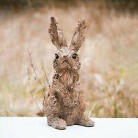 Rustic Wood Effect Easter Bunny Rabbit Garden Ornament Outdoor Patio Decoration