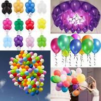 "Colorful 20-100pcs Pearl Latex Balloon Celebration Party Wedding Birthday 10"""