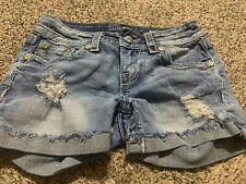 MISS ME SIGNATURE SHORT WOMENS JEAN SHORTS SIZE 25
