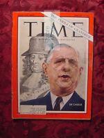 TIME Magazine February 8 1963 Feb 2/8/63 FRANCE CHARLES DE GAULLE +++