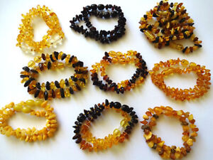 lot-10 Genuine Blatic Amber Children bracelets - Choose quantyty