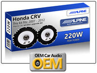 "Honda CRV Front Door speakers Alpine 17cm 6.5"" car speaker kit 220W Max Power"
