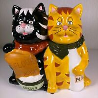 Ambiance Collection Two Cats Large Ceramic Cookie Jar
