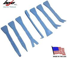 Bojo Hi Viz Blue 7 Piece Car Trim Dashboard Panel Pry Tool Kit In Plastic Box