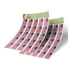 """United States USA Flag Sticker Decal 1"""" Rectangle Two Sheets 50 Total Stickers"""