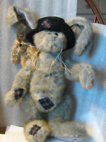 "Bearington Rabbit 2000's Rags&Bags16"" gray black hat rabbit friend jointed GREAT"