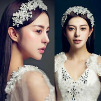 Bridal Wedding Pearl Crystal Rhinestone Headband Party Tiara Hair Accessories