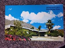 Vintage 1960's unused Postcard, Dean Martin's Home in Palm Springs, California