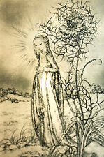 Sulamith Wulfing 1932  INNOCENT Girl with HALO Lost Her Way Art Card Matted