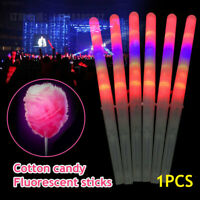 2DCB 1.8*1.8*28cm White Red Blue Green Ultrahigh Glow Stick LED Cotton Candy