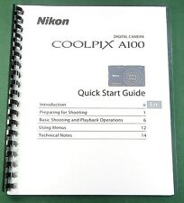 Nikon CoolPix A100 Quick Start Guide: 36 Pages & Protective Covers