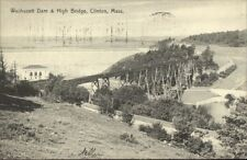 Clinton MA Dam & Bridge c1910 Postcard