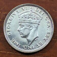 1945 C MS UNC BU Newfoundland Canada 5 Five Cents Silver Half Dime Coin Lot D83