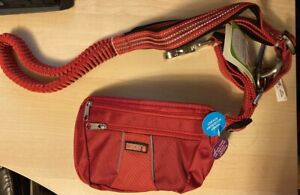 NEW-Kong Hands Free Comfort Leash And Removable Pouch 6 feet Red Reflective