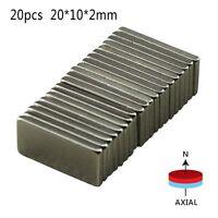 5//20//50Pcs 40x10x4mm Super Strong Block Rare-Earth Neodymium Magnets N52 Sweet