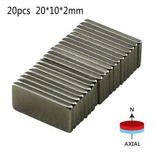 20pcs/set N52 Neodymium Block Magnet 20x10x2mm Super Strong Rare- Earth Magnets