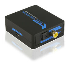 Coax Coaxial RCA to SPDIF Optical Toslink 2-Way Digital Audio Converter Adapter