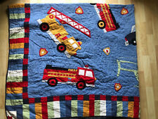 Anna Claire Kids Queen Quilt Comforter Rescue Vehicle Firetruck Helicopter Polic