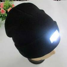5LED Knit Warm Hat Hands Free Flashlight Cap Hat for Climbing Fishing Black